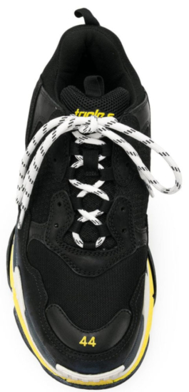 Balnciaga Yellow Sole Triple S Sneakers