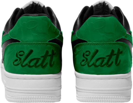 Bape Black And Green Bapesta Sneakers