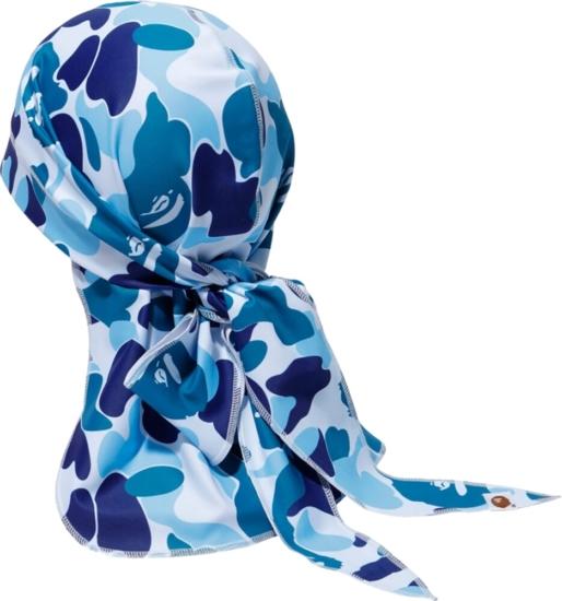 Bape Blue Abc Camo Du Rag