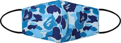 Bape Blue Abc Camo Face Mask Ss20