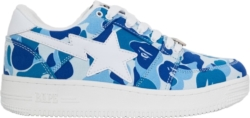 Bape Blue Camo Bapesta Sneakers