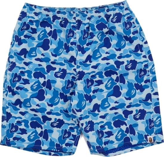 Bape Blue Camo Swim Shorts