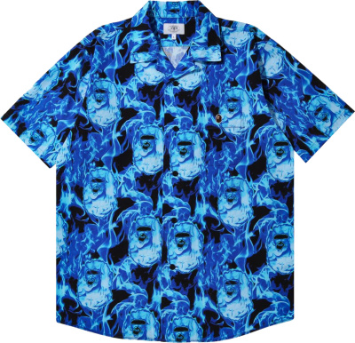 Bape Blue Flame Ape Head Shirt