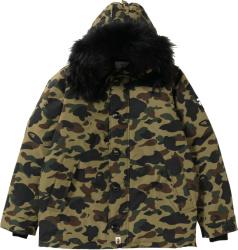 Bape Green 1st Camo Puffer Jacket