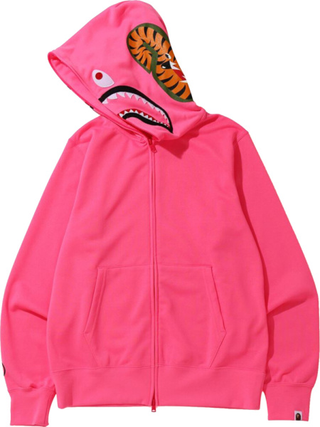 Bape Neon Pink Zip Hoodie
