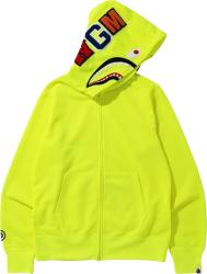Bape Neon Yellow Shark Hoodie
