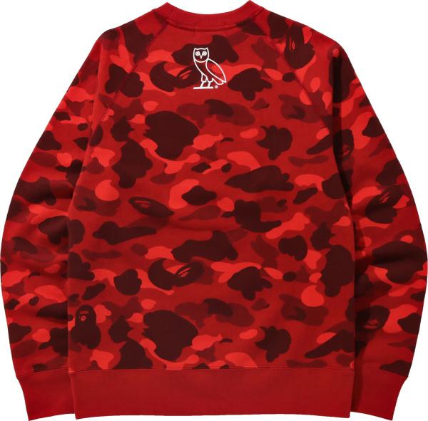 Bape Ovo Red Sweatshirt