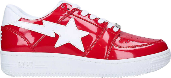 Bape Patent Red Sneakers