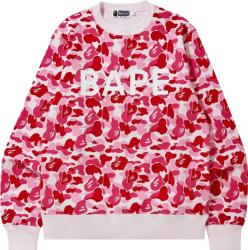 Bape Pink Abc Camo Logo Sweatshirt