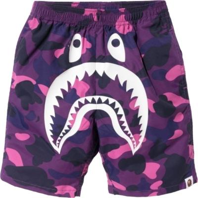 Bape Purple Camo Swim Shorts
