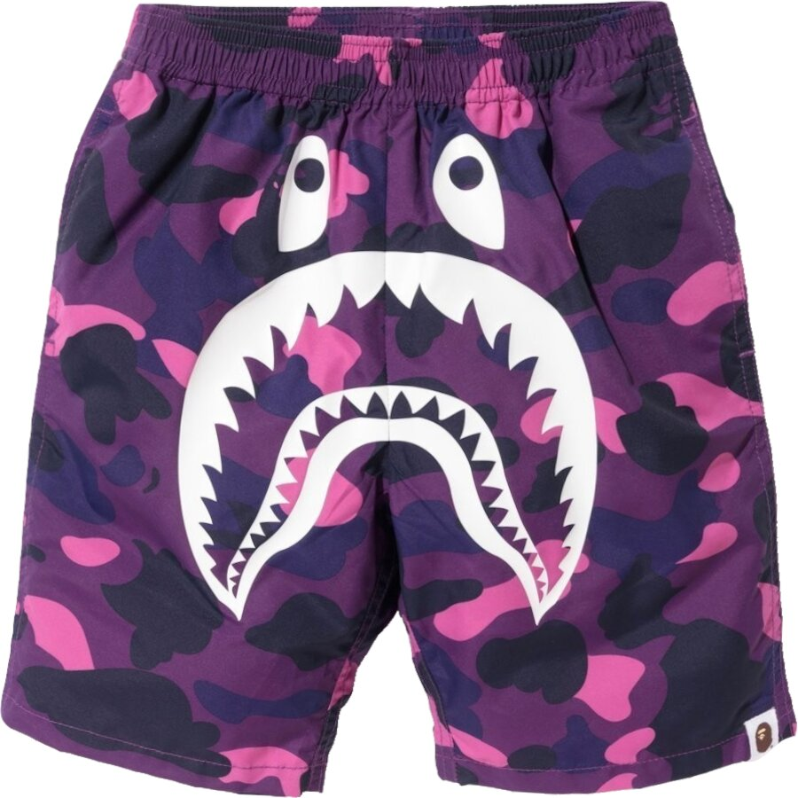 Bape Purple Camo Swim Shorts