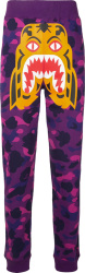 Bape Purple Color Camo Tiger Print Joggers