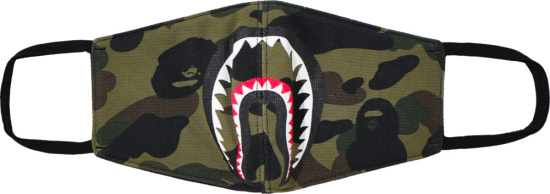 Bape Shark Mouth Print Camo Facemask