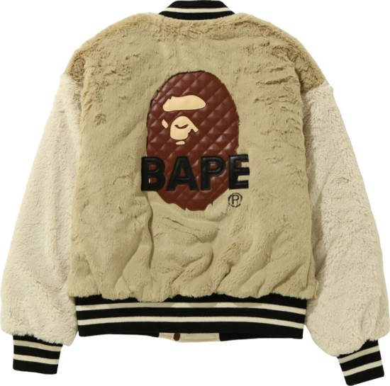 Bape Shearling Varsity Jacket