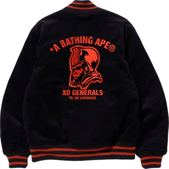 Bape The Weeknd Black Varsity Jacket