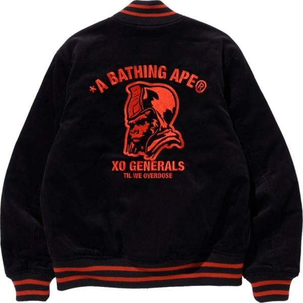 Bape The Weeknd Black Varsity Jacket