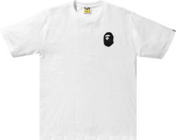 Bape White Bicolor Multi Logo T Shirt
