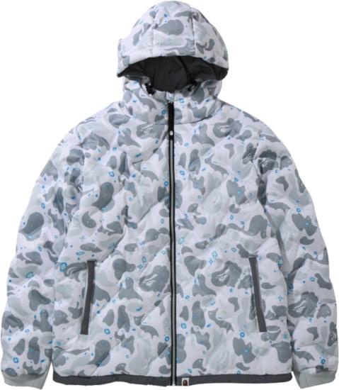 Bape White Space Camo Puffer Jacket