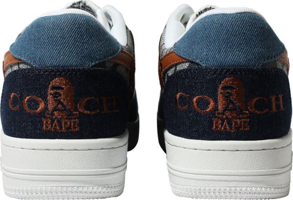 Bape X Coach Blue Denim Bape Sta Sneakers
