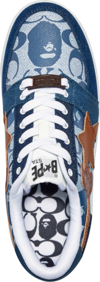 Bape X Coach Blue Sneakers