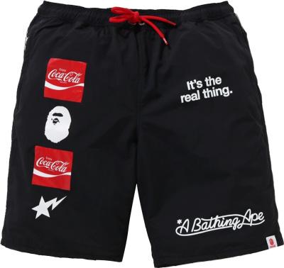 Bape X Coca Cola Black Logo Shorts
