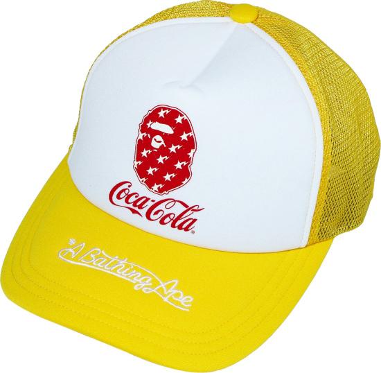 Bape X Coca Cola Yellow Trucker Hat