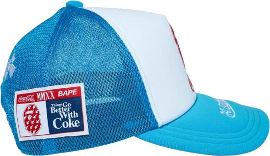 Bape X Coke Blue White Mesh Hat