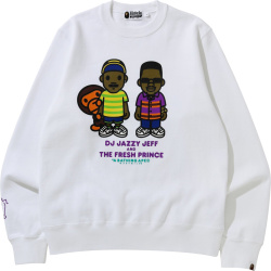 Bape X Fresh Prince Of Belair White Sweatshirt