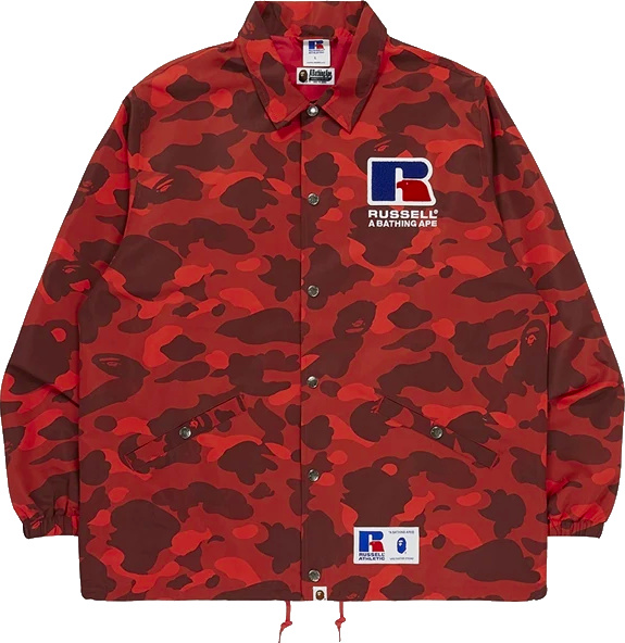 Bape X Russell Red Camo Jacket