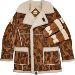 Bape X Ugg Sherling Camo Jacket