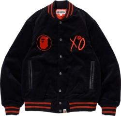 Bape X Xo Black Varsity Jacket