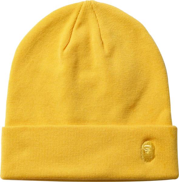 Bape Yellow One Knit Beanie Hat