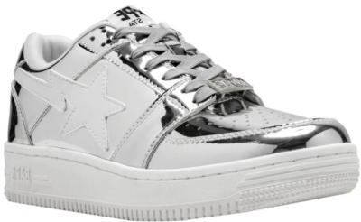 Bapesta Metallic Foil Sneakers