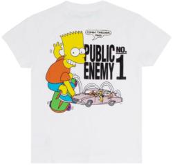 Bart Simpson Skateboarding Public Enemy Print T Shrit