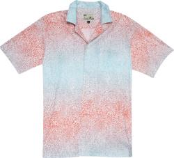 Blue & Red Gradient Cheetah Print Shirt
