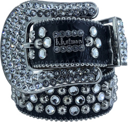 Black 'Lavasan' Embellished Belt