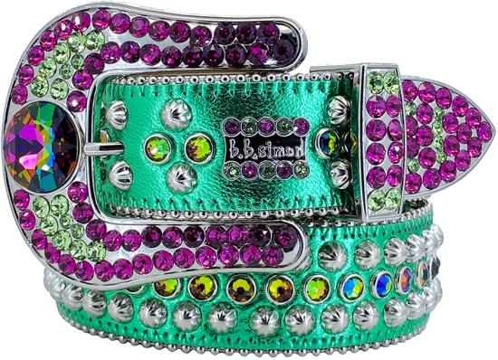 Bb Simon Green Purple Safa Belt