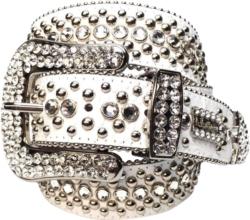 'White Magic' Swarovski Crystal Embellished Belt