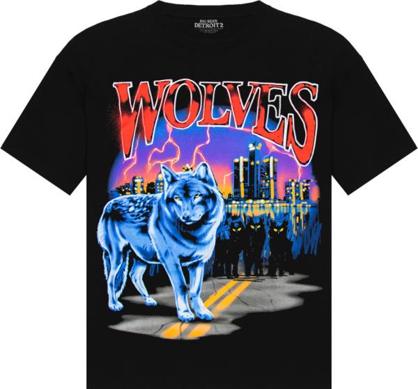 Big Sean Detroit 2 Wolves Print T Shirt