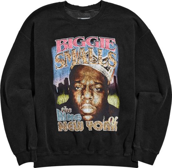Biggie Smalls Black Distressed King Of New York Hoodie