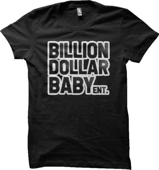 Billion Dollar Baby Print Black T Shirt