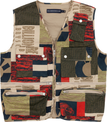 Billionaire Boys Club Ice Cream Patchwork Vest