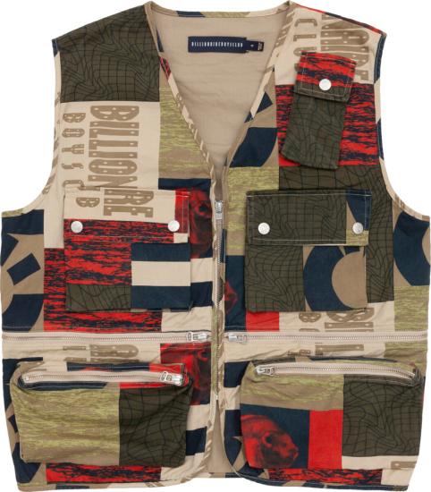 Billionaire Boys Club Ice Cream Patchwork Vest