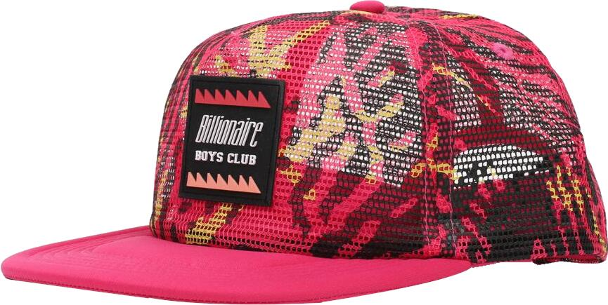 Billionaire Boys Club Pink Camo Trucker Hat