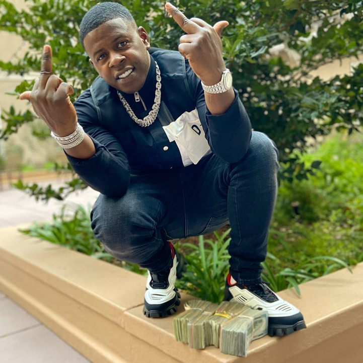 Blac Youngsta Gives The Finger In A Diesel Vest And Prada Sneakers