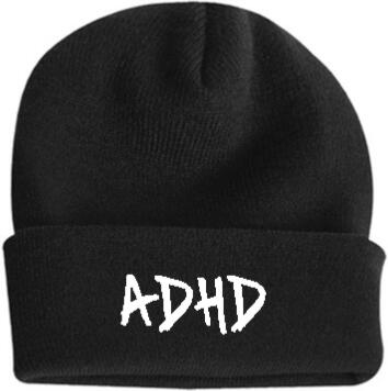 Black Adhd Beanie Worn By Joyner Lucas