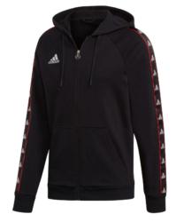 Black Adidas Logo Tape Hoodie Worn By Kodak Black