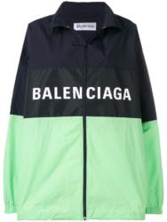 Black And Green Balenciaga Windbreaker Worn By Pusha T