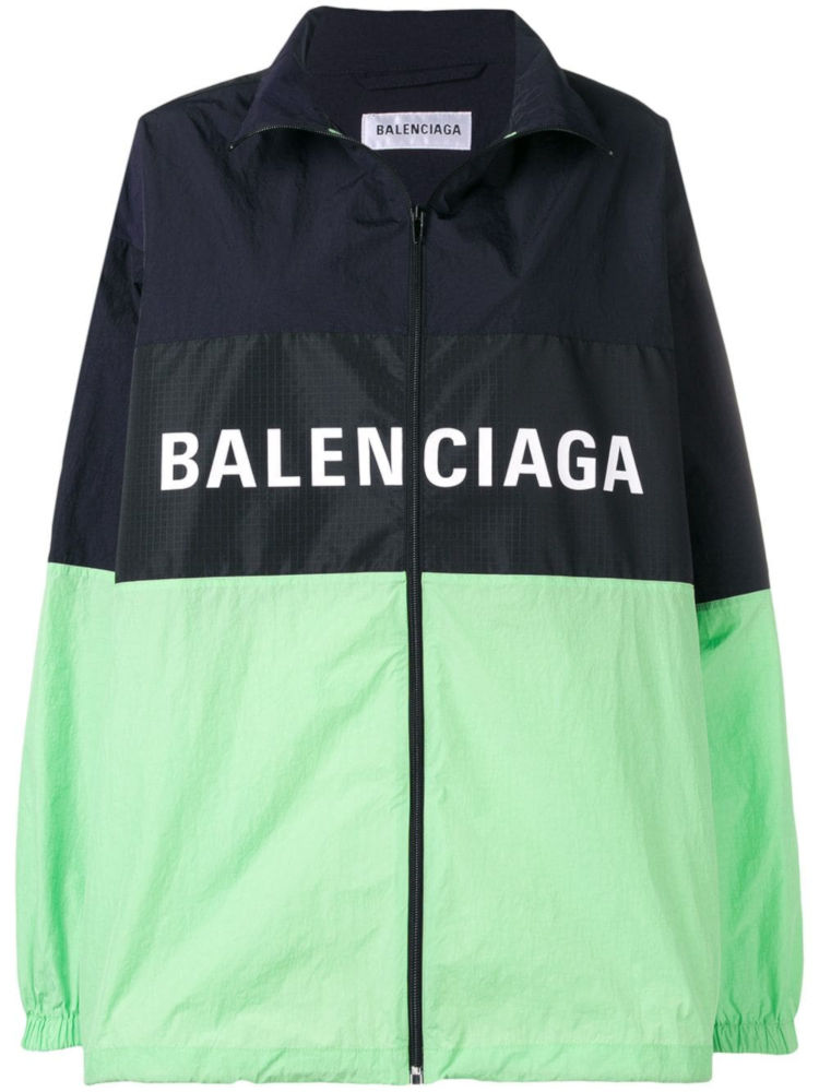 Black And Green Balenciaga Windbreaker Worn By Pusha T