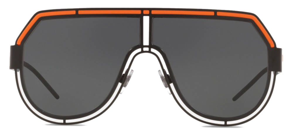 Black And Orange Dolce And Gabbana Sunglasses Worn By Gucci Mane